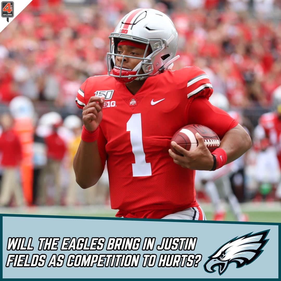 Would you be surprised if the #Eagles draft Justin Fields, or should they bring in competition for Jalen Hurts?  Or should they use that pick to help build around Hurts?  What would you do?⬇️  #FlyEaglesFly #NFL #NFLDraft #NFLTwitter