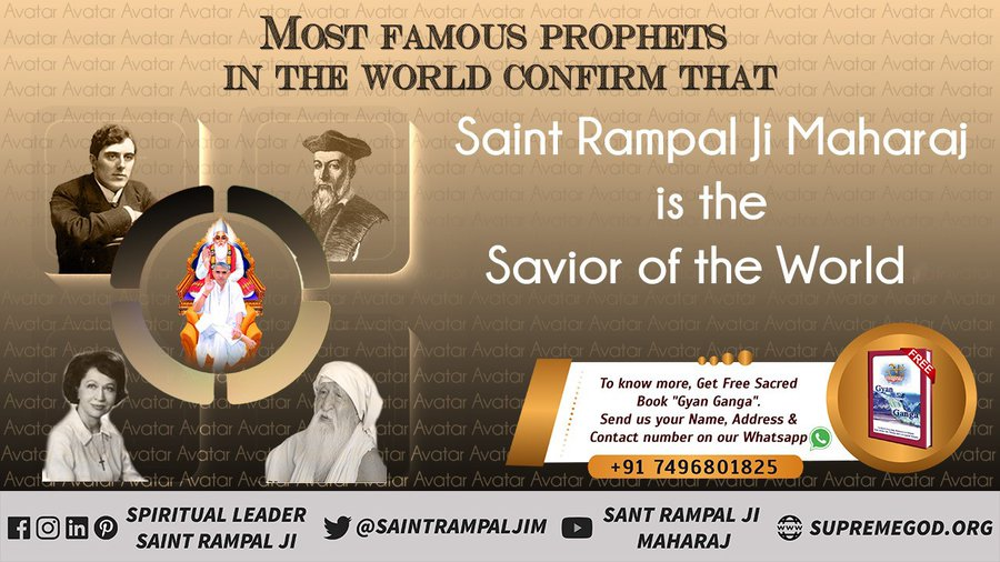 #GodMorningWednesday According to the Prophecies of the most famous prophets Saint Rampal Ji Maharaj is the savior of the world.  #WednesdayMotivation