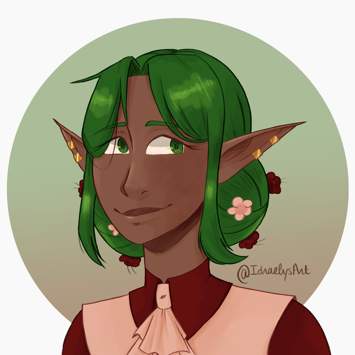 Gonna get to play again as Wisamirelle as we stopped playing the game she originated from last summer! Made some minor changes on her design as well as a new token because the old one was... meh  #DnD #DnDcharacter #dndartists #dndtoken