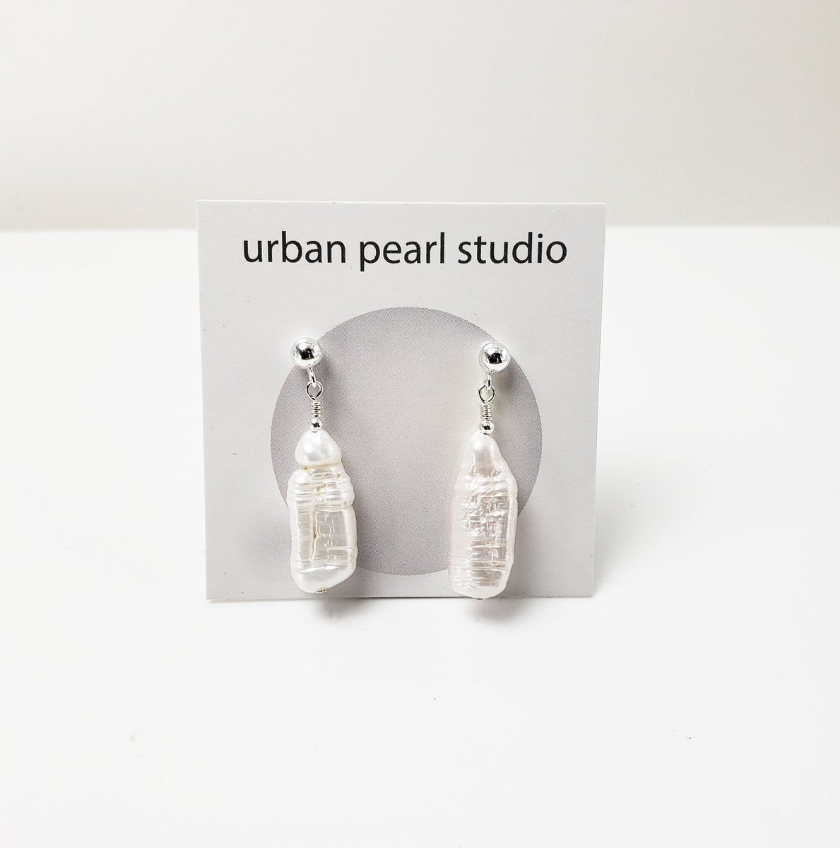 Biwa Pearl Earrings Stick Pearl Drop Earrings Sterling Silver Studs BPE226  #giftsforher #lovejewelry #pearlnecklace #etsy #handmadejewelry #handmade