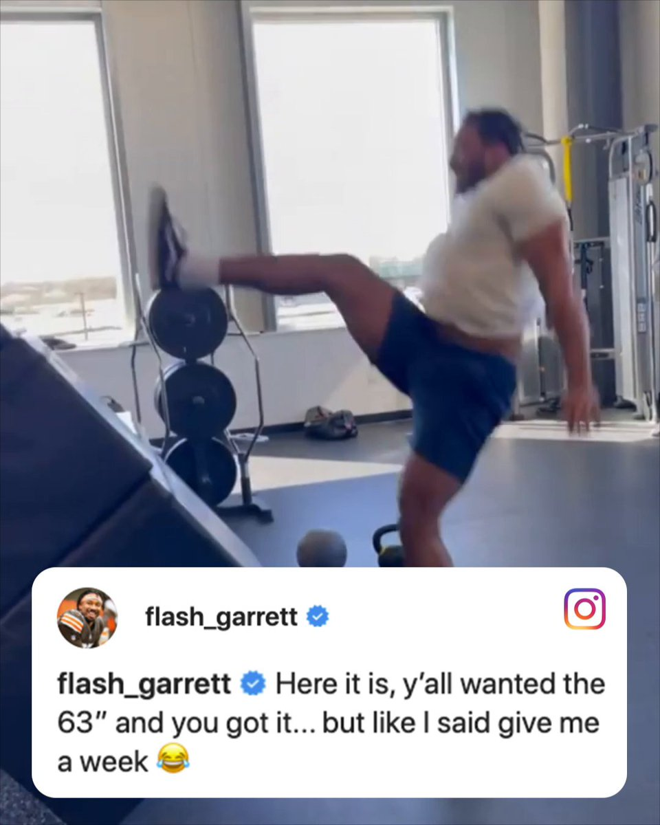 Myles Garrett really went for it 😅 @ESPNNFL   (via @MylesLGarrett) https://t.co/pwf9vnxeC6