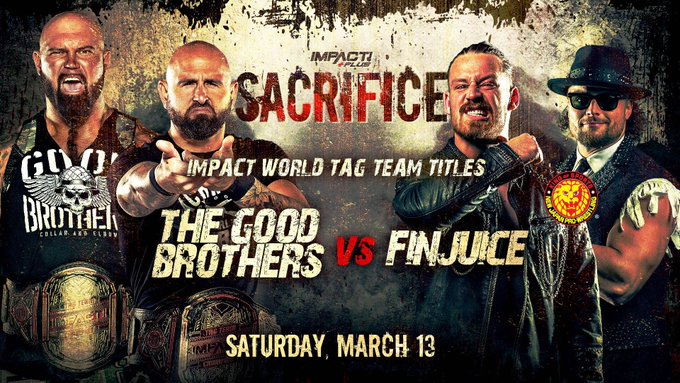 "Impact Tag Team Title Match Announced For Impact Wrestling's ""Sacrifice"""