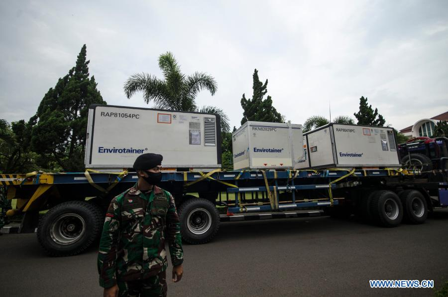 test Twitter Media - In pics: Raw materials for China's #Sinovac #COVID19 vaccine arrived in Bandung, #Indonesia, on Tuesday. https://t.co/Yp3KtjFWYW