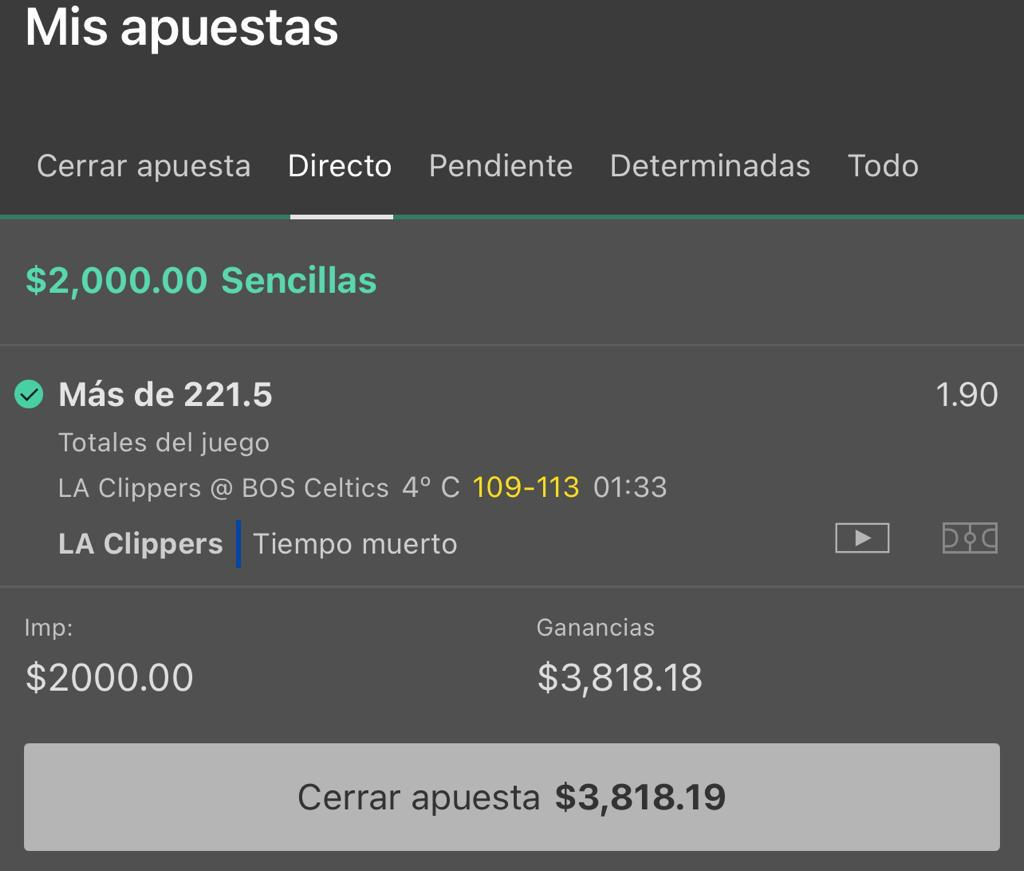 El infalible se cobra #NBA  Costo:220 pesos Mex ó 10.89 paypal   Racha ganadora.
