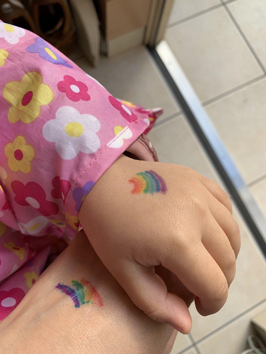 登園拒否の娘があっさり行けるようになった理由!手の甲に描いたウサギやクマが可愛い!