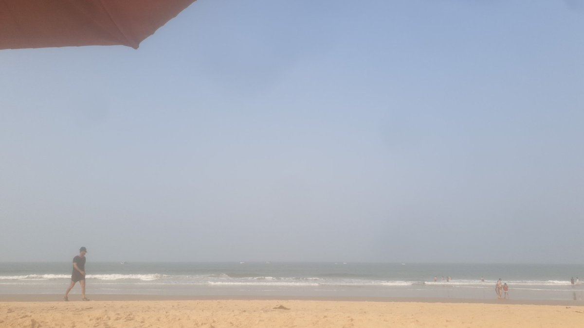 Its nice to have an 8am - 10am at the beach. #Goa.