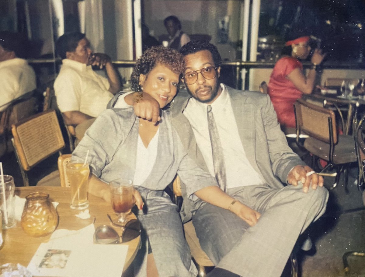 Sifting through old photos tonight. Abuela was a baddie.🔥 My grandparents circa 1981.❤️ #Familia