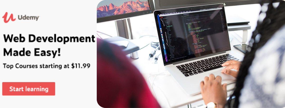 *BEST CATEGORY OFFER*  #Web #Development Made Easy!   Top #Courses starting at 11.99  Start Date: 01/03/2021 End Date: 14/03/2021    #website #webdevelopment #WebDeveloper #webdesign #100DaysOfCode #CodeNewbie #WomenInScience #WomenInSTEM #womenwhocode