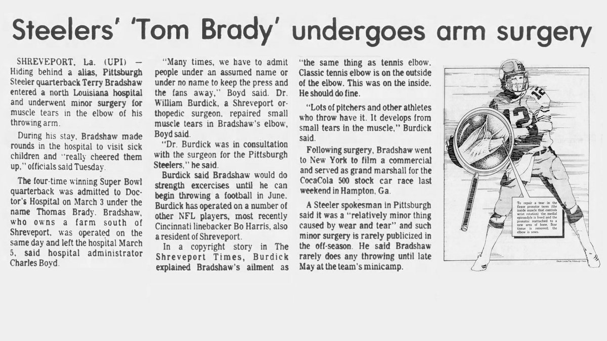 On this date in 1983, the winningest quarterback in Super Bowl history checked into a Louisiana hospital using an assumed name.