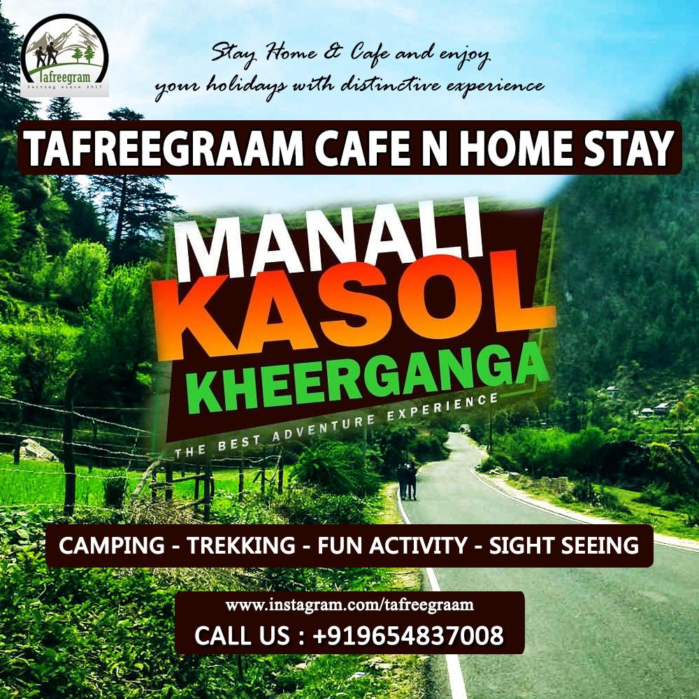 Stay #Home & #Cafe and enjoy  your #holidays with distinctive #experience. #TafreegraamCafeNHomeStay #Camping - #Trekking - #Fun_Activity - #Sight_Seeing Call Us : +919654837008 #kalga #pulga #tosh #tafreecafe #tafree #mountains #himachalpradesh #himachalpradeshtourism #homestay