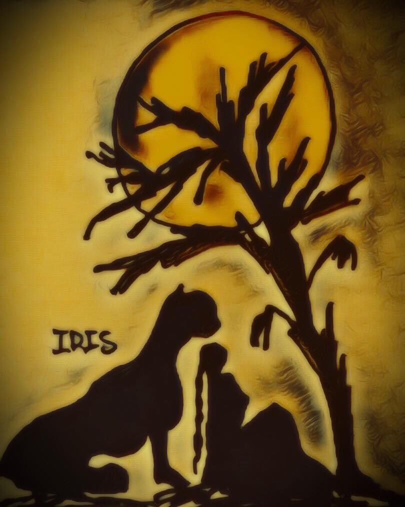 The animal protector, painted by @IRISUNART #irisunart #art #artistic #artist #arte #artsy #arts #painting #paintings #paint #watercolor #watercolors #instartist #instalove #instalike #galleryart #onlinegallery #fineart