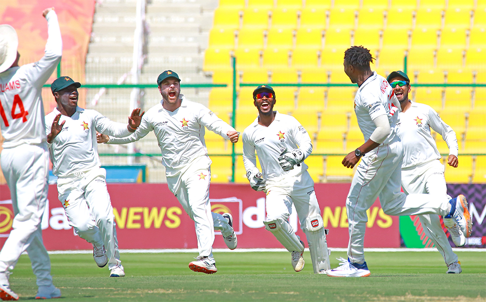#1stTest   Day 2️⃣   @ACBofficials are now 5⃣ wickets down!  131 & 22-5 after 12 overs, trail 🇿🇼 by 97 runs  #AFGvZIM   #VisitZimbabwe   #BowlOutCovid19