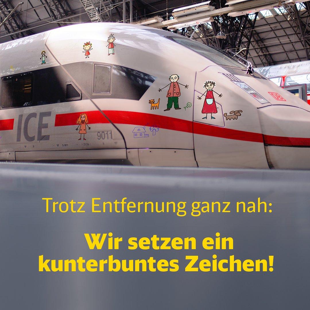 Ihr hofft auf ein zügiges Wiedersehen mit Oma, Opa, Tante, Onkel oder Freunden? Wir verkürzen die Wartezeit und lassen die Zeichnungen eurer Kindern auf einem ICE durch Deutschland reisen! Alle Infos: