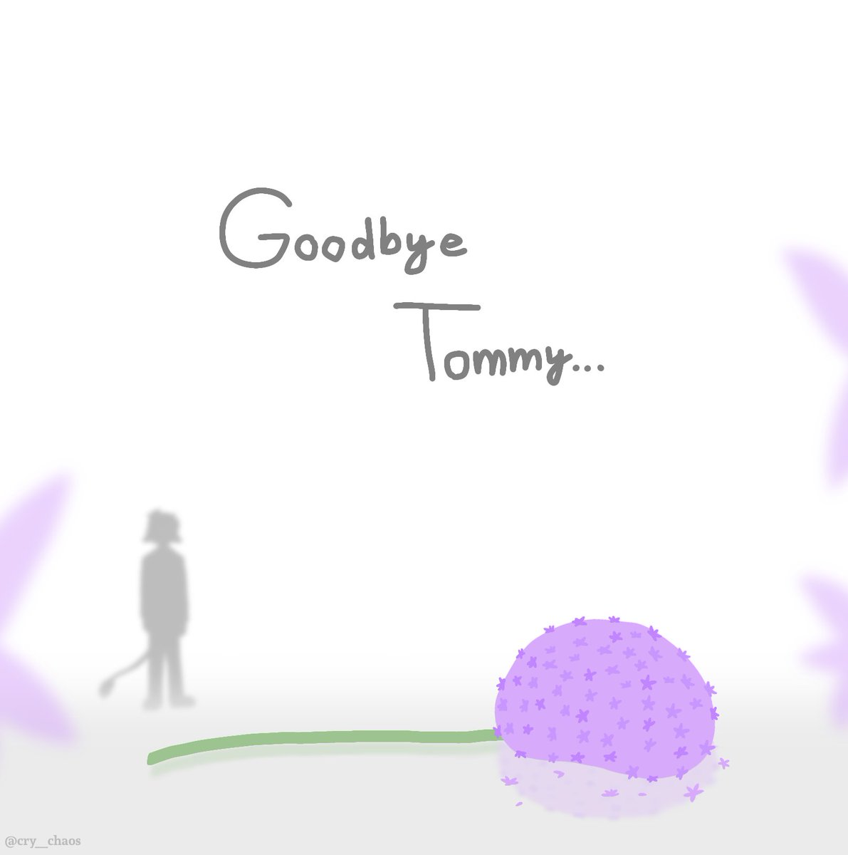 """//dsmp spoilers  """"Here Tommy, have a flower... but no one is there to pick it up anymore...""""  