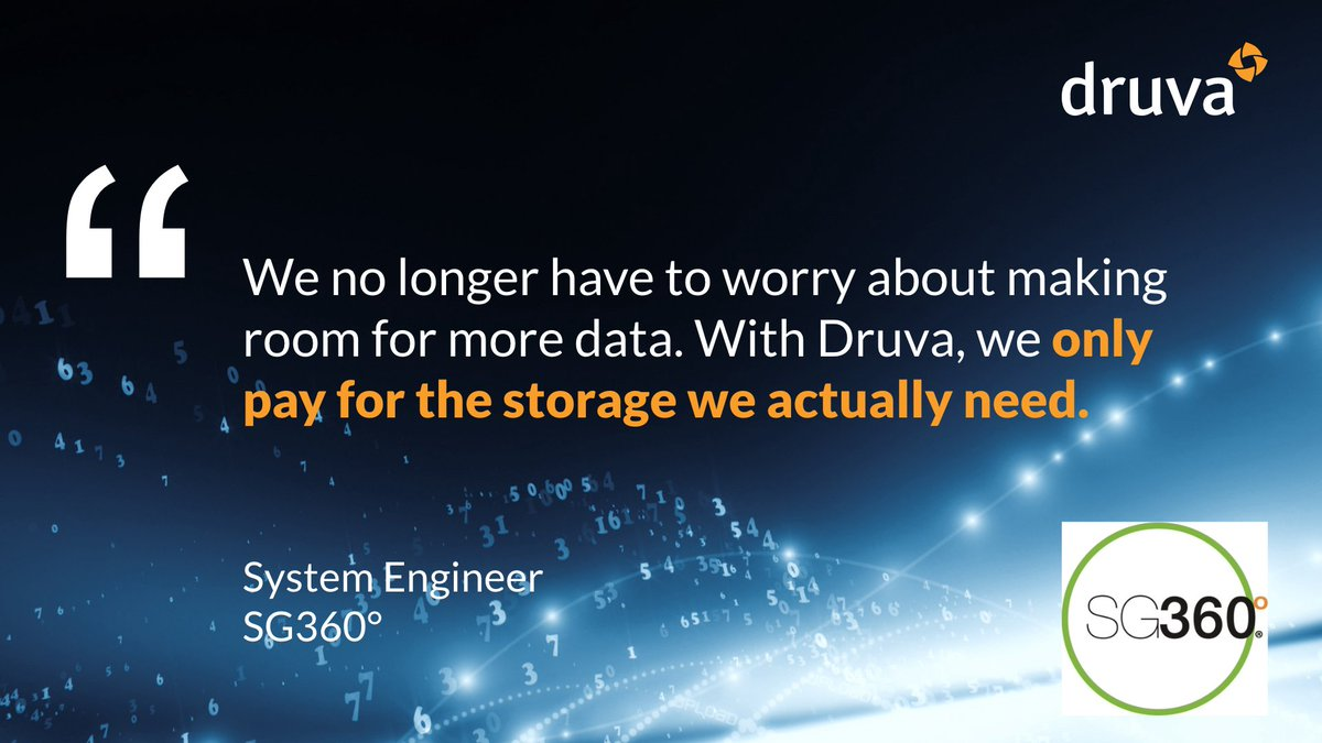 #MondayMotivation 👏 After moving to cloud, SG360° now recovers data three times faster. They have reduced time spent managing data #backups by 10X, to just 30 minutes a week. Read their full story here:   @druvainc