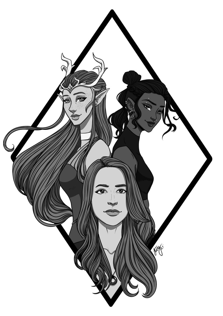 Been binging Campaign 2 and had to draw! So here's @Marisha_Ray and her characters, Keyleth and Beauregard   #Criticalrole #CriticalRoleArt #dungeonsanddragons #ArtistOnTwitter #art