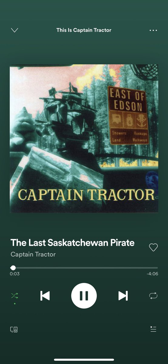 Captain Tractor is such fun to listen to. Finally @Spotify Discover Weekly gives me something awesome. #CaptainTractor #Spotify