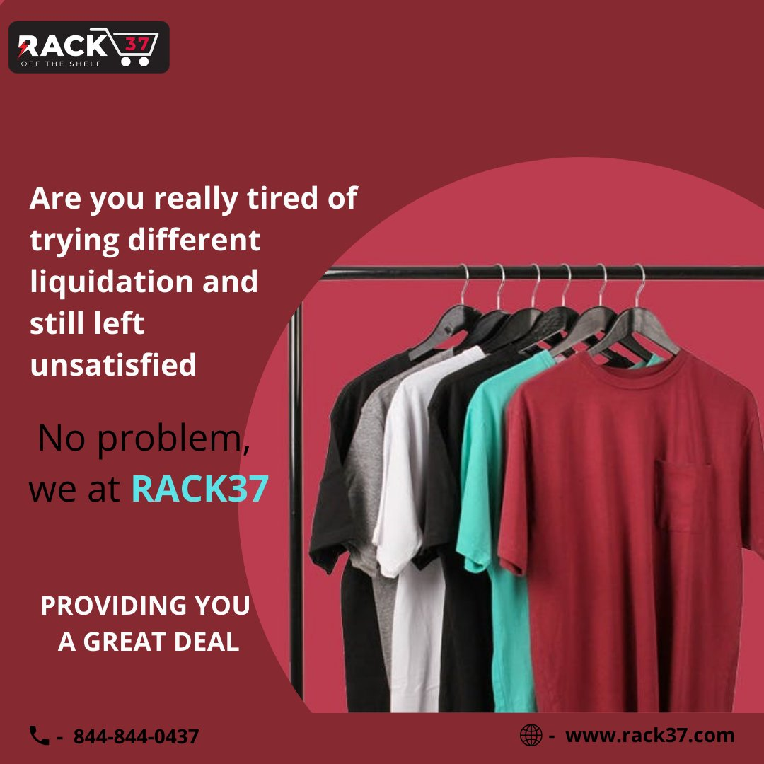 Are you really tired of trying different Liquidation And Still Left Unsatisfied ! No Problem, We at Rack37 Providing You A Great Deal.  #garmentsupplier #Footwear #StockLiquidation #team37 #liquidation #surplus #stock #wholesale #wholesaleclothing #inventory #MondayMotivation