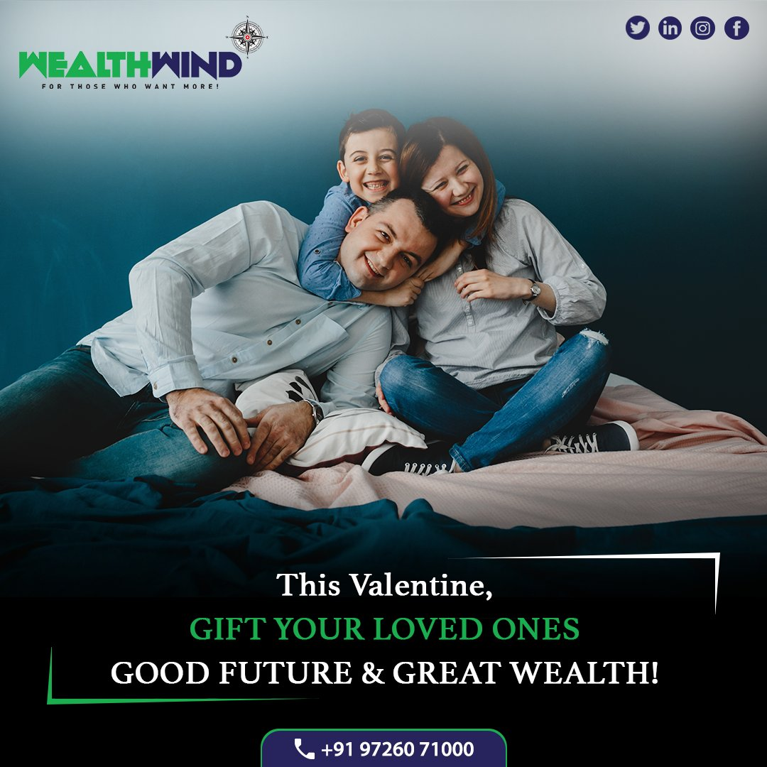There is nothing more promising than a secure future! This valentines day gift your Family Secure Future and Good Wealth with Wealth Wind! #valentine #valentinesday #investment #wealth #wealthmanagement #wealthwind #equity #equitymarket #commoditymarket #investmentbanking https://t.co/dPBNtY6QIN