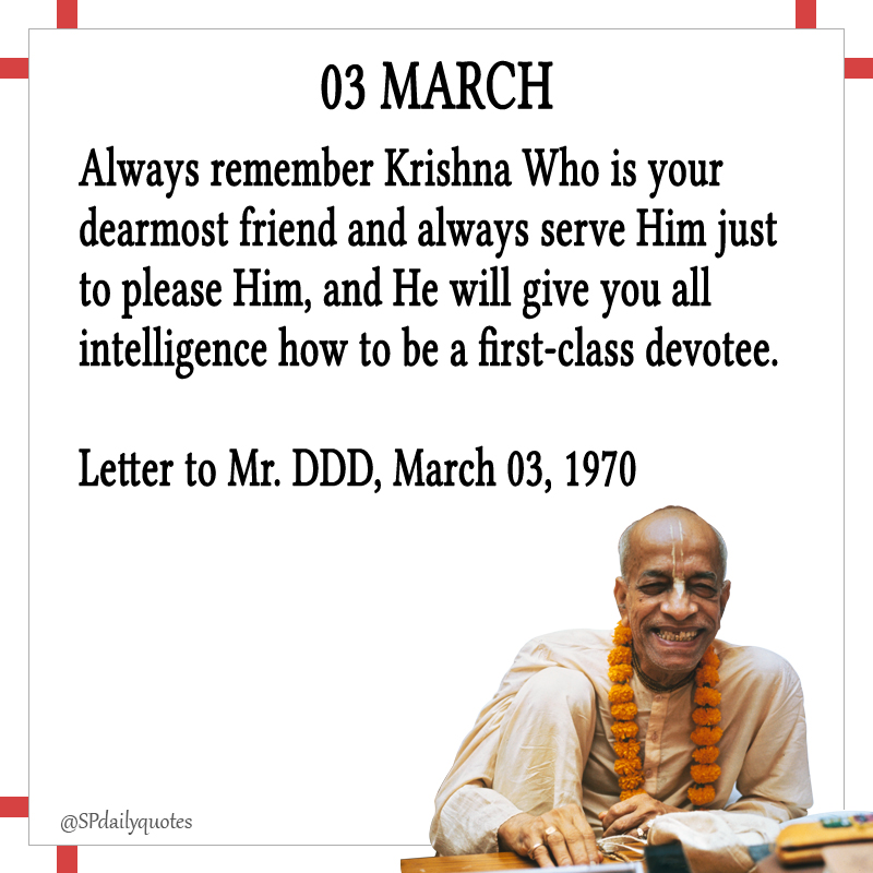 @SPdailyquotes Srila #Prabhupada #krishna #iskcon #motivation #success #love #innovation #Education #future #india #Creativity #inspiration #life #quotes #WomanCrushWednesday #WoofWednesday #HealthyHumpDay #WednesdayWorkout #WisdomWednesday #WednesdayWisdom