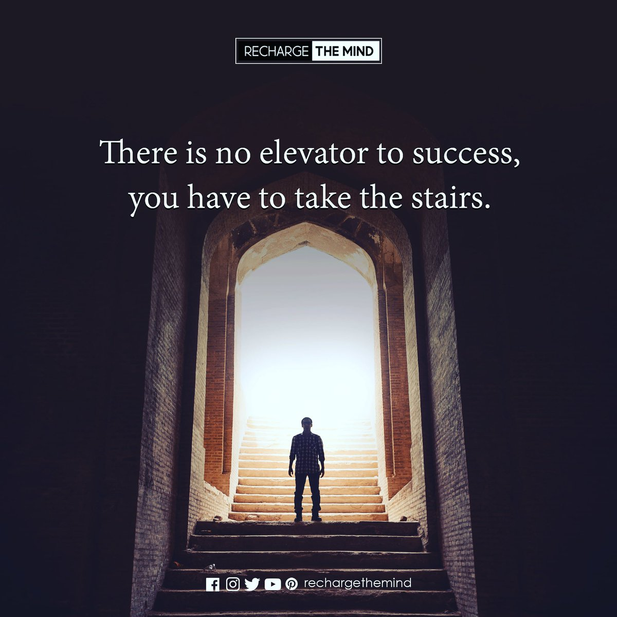 There is no elevator to success, you have to take the stairs. . .  #quotes #motivation #motivational #quoteoftheday #dailyquotes #inspirational #InspirationalQuotes #PositiveVibes #positivethinking