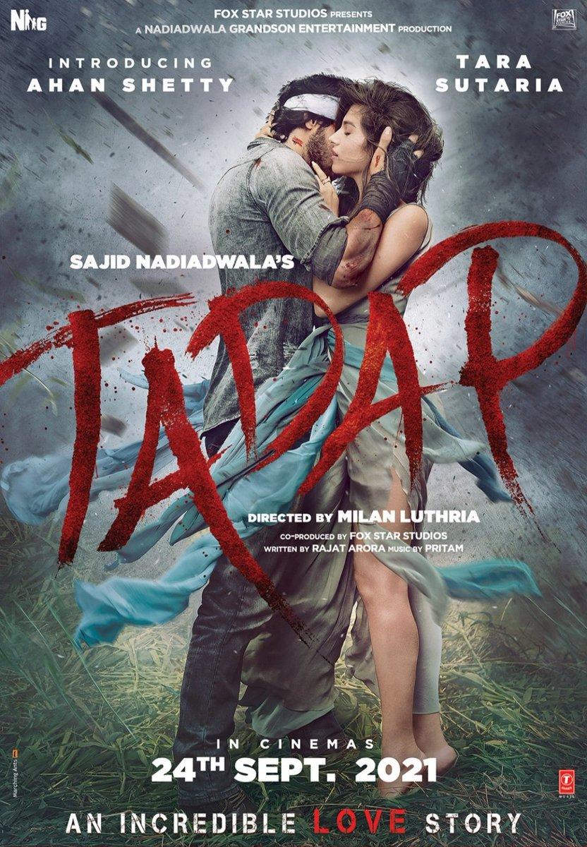 A big love story is coming soon to theaters...... #AhanShetty #TaraSutaria  #SajidNadiadwala  All the best to the team.