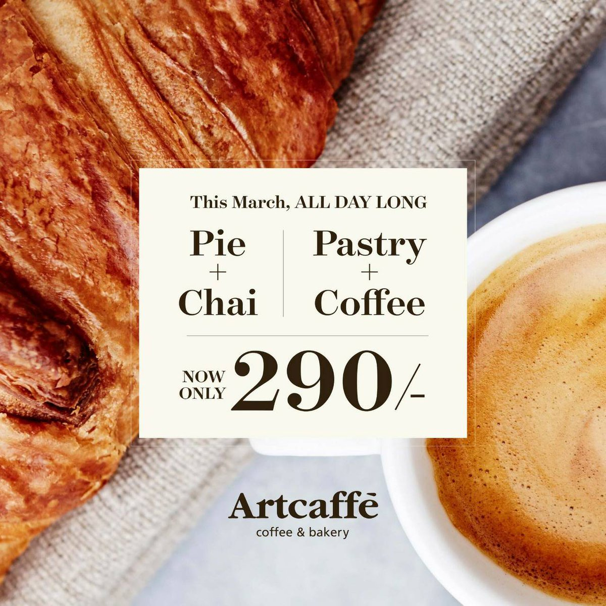 When breakfast calls, you pick the 📱. Enjoy a pie or pastry with coffee or tea for just 290/- this March, all day long.   #WestgateExperience https://t.co/vd6HQuLeWu