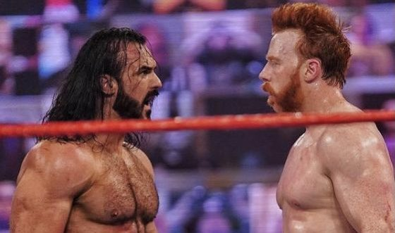 """WWE higher-ups were reportedly """"pleased with the match"""" between Drew McIntyre and Sheamus on Monday's episode of #WWERaw.  It was noted that a large portion of the match was called in the ring as well.  (via @FightfulWrestle)"""