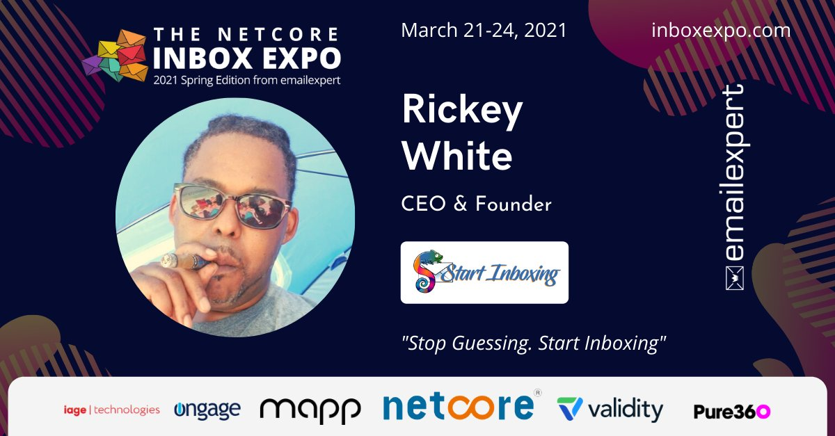 Talking #deliverability we have Rickey White - formerly Merkle, now CEO @startinboxing https://t.co/ImT5pNp1iI