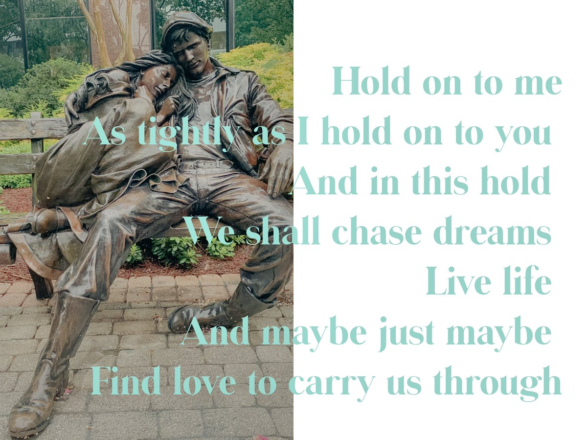 Hold on to me As tightly as I hold on to you  And in this hold  We shall chase dreams  Live life  And maybe just maybe  Find love to carry us through  #poem #poetry #Writer #WritingCommunity #words #inspiration #amwriting