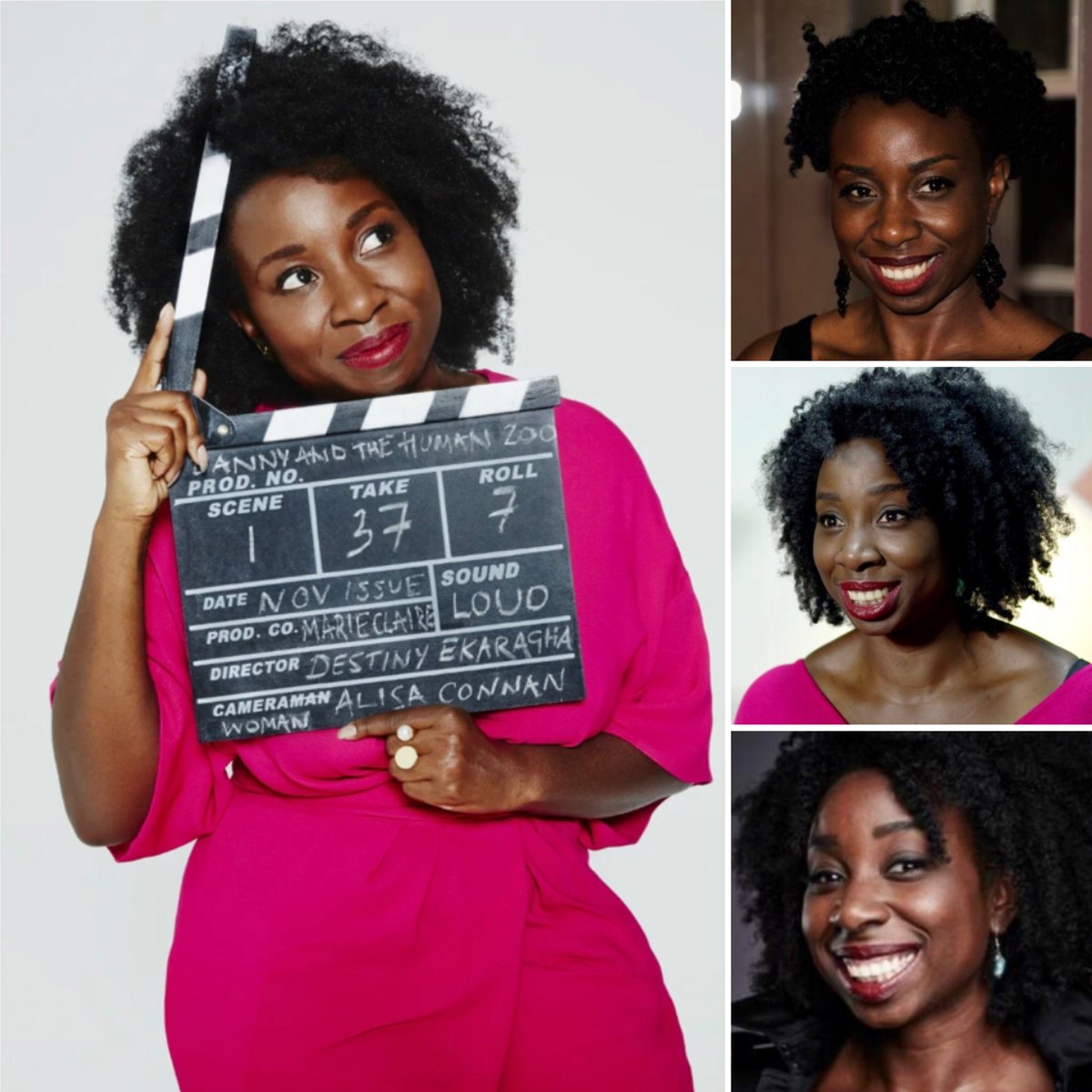 It's #wcw & today we celebrate Destiny Ekaragha 🎞 🎥.  She is a 🇬🇧🇳🇬 British Nigerian #writer & #director (and is in fact only the THIRD British Black woman to have directed a feature-length film that was given cinema distribution in the UK).  #representationmatters