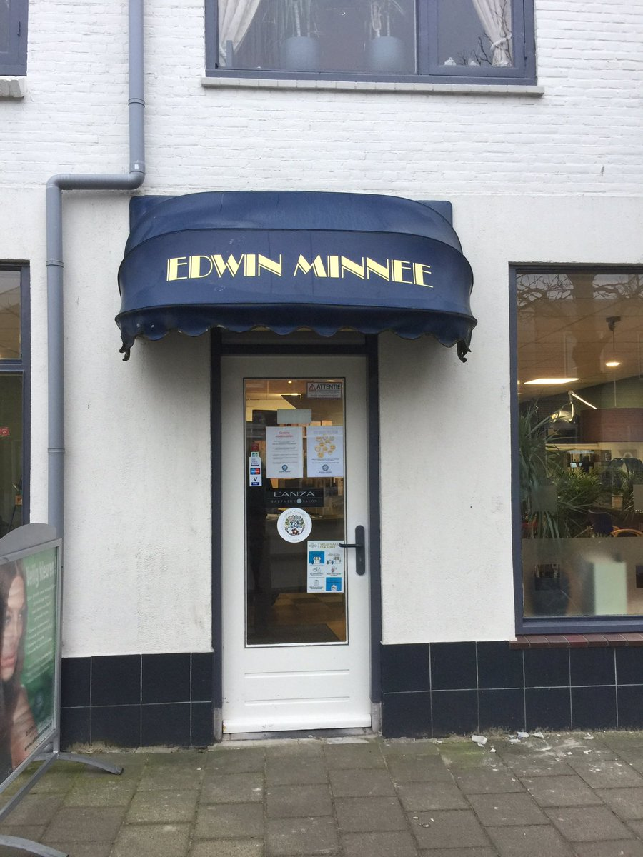 Called day before yesterday and now one of the first in holland that gets a (legal) #haircut 😂😂  #edwinminnee in #katwijk