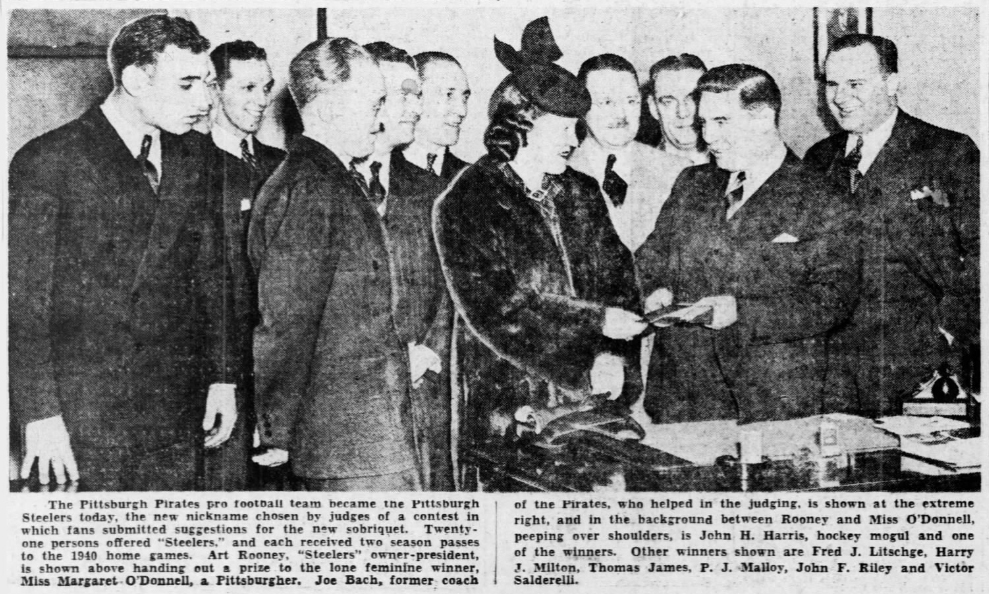 On this momentous day in #Steelers history 1940 the Pittsburgh Press confirmed Art Rooney had changed the nickname of his Pirates pro football team to one that would become synonymous with the city that was built on Steel production #HereWeGo #SteelersNation