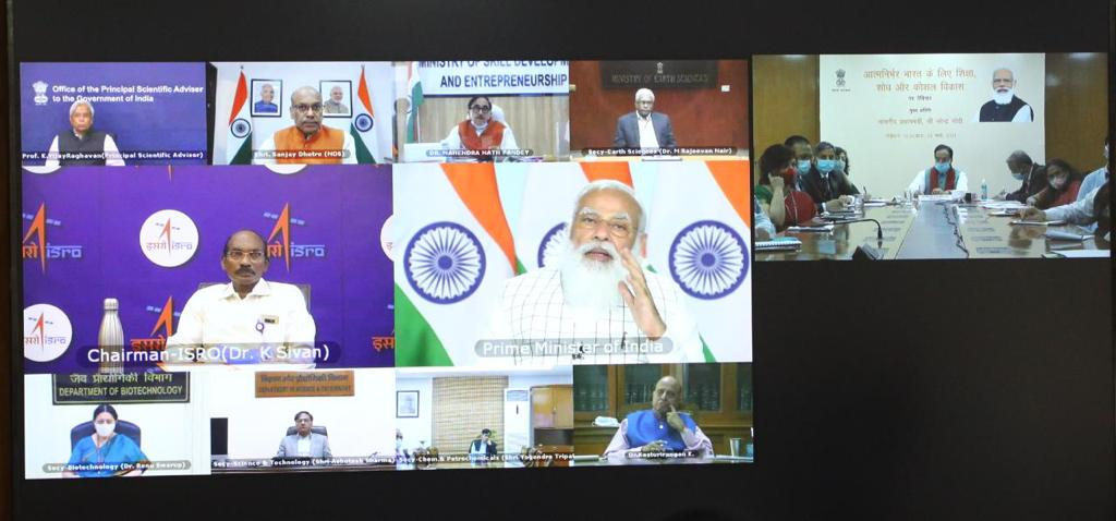 Hon'ble Prime Minister of India Shri @narendramodi ji addressed the inaugural session on 'Harnessing Education, Research and Skill Development for an Atmanirbhar Bharat' today. Hon'ble PM believes that to build a self-reliant India, youth must be confident.