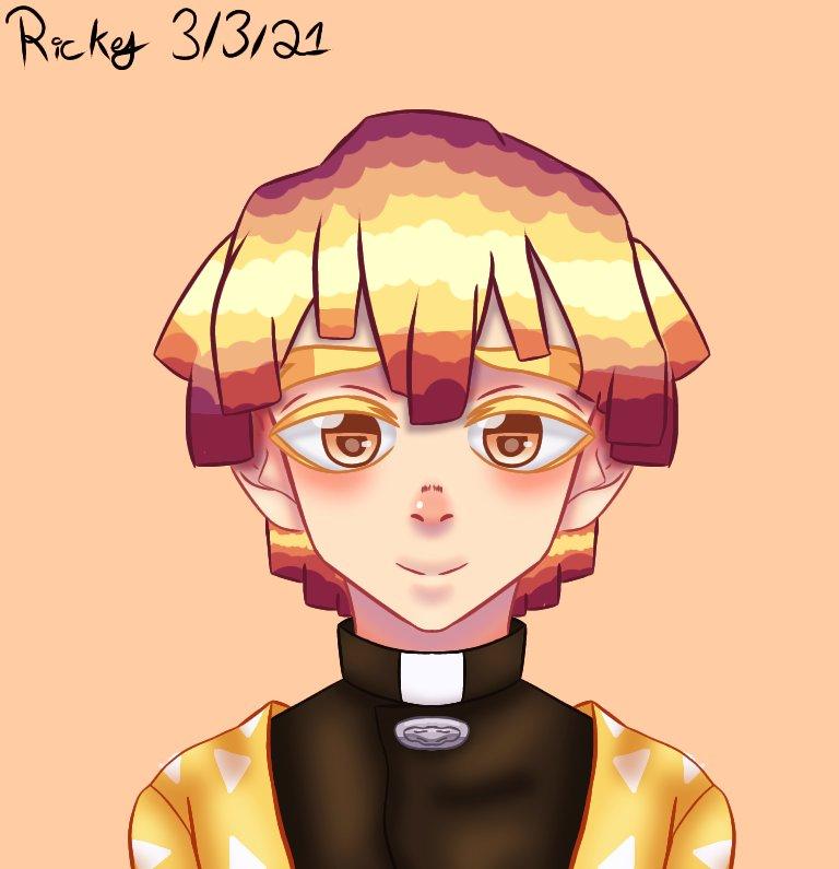 Did I just change my art style for a character? Yes. Am I sorry? Maybe.  #DemonSlayer #fanart #zenitsu #zenitsufanart