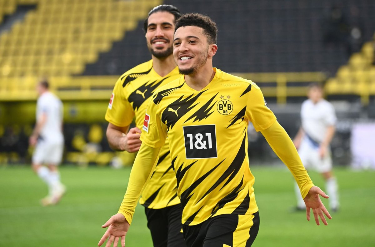 Jadon Sancho 🏴 has been directly involved in 15 goals in his last 13 matches for Borussia Dortmund. 🔥 #BVB #UCL