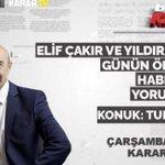 Image for the Tweet beginning: Karar Tv'de Elif Çakır ve