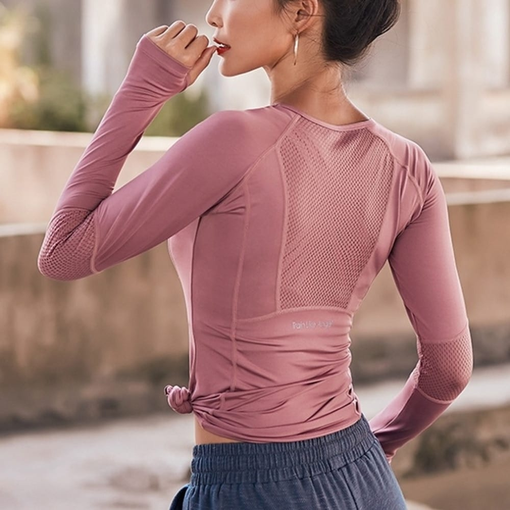 Women's Mesh Back Sports Long Sleeve #igers #tagsforlikes