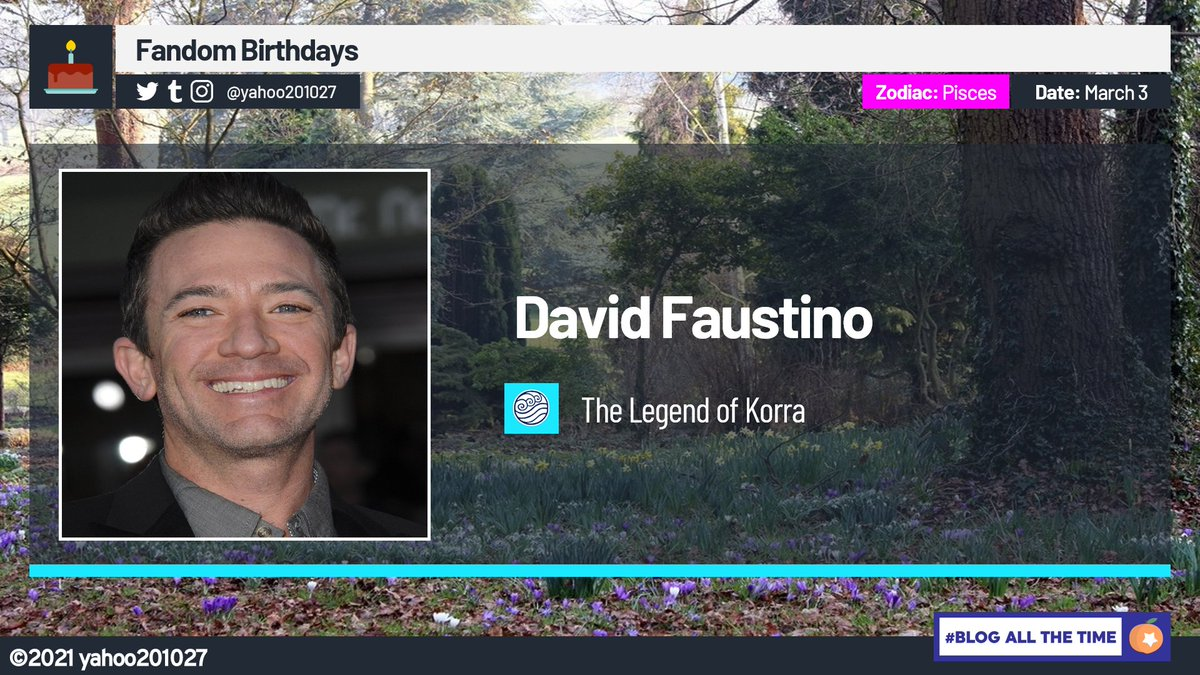 Happy Birthday to the Voice of the character of Mako in the Nickelodeon animated series The Legend of Korra (2012-2014), Actor @DavidFaustino. #TheLegendOfKorra #FandomBirthdays