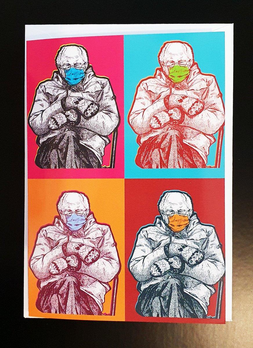 Bernie Sanders meme greeting card | mittens | Bernie chair | Greeting Card | Bernie Gift | Pop Art | Warhol | Memes  #giftIdea #LineArt #art #Etsy #Artwork #PopArt #InaugurationDay