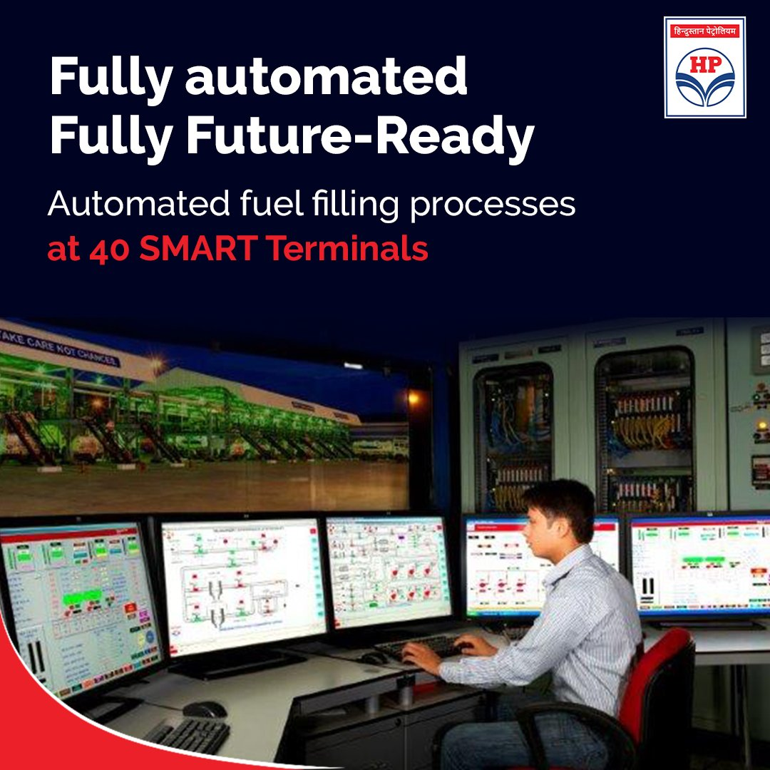 #HPCL has 40 such state-of-art, fully automatic SMART Terminals. With no manual intervention, these terminals are automated right from filling to billing.  #Automation #Automated