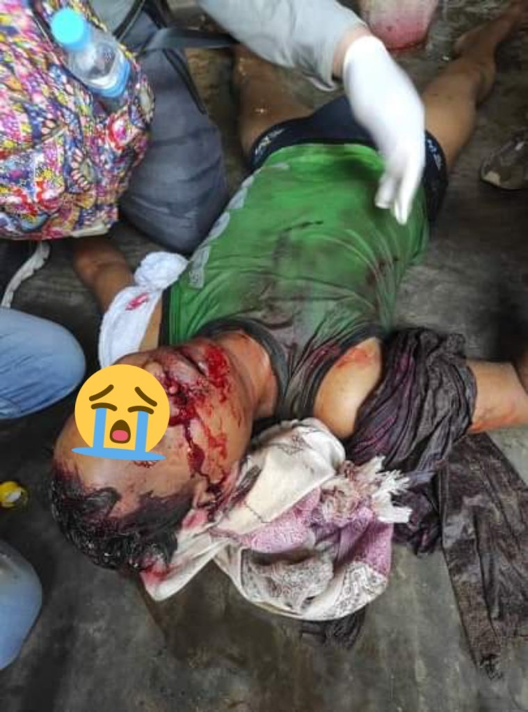 This is Not a DISINTEGRATION. This is MURDER!!!! Strongly condemned. Military isn't human. #Mar3Coup  #WhatsHappeningInMyanmar