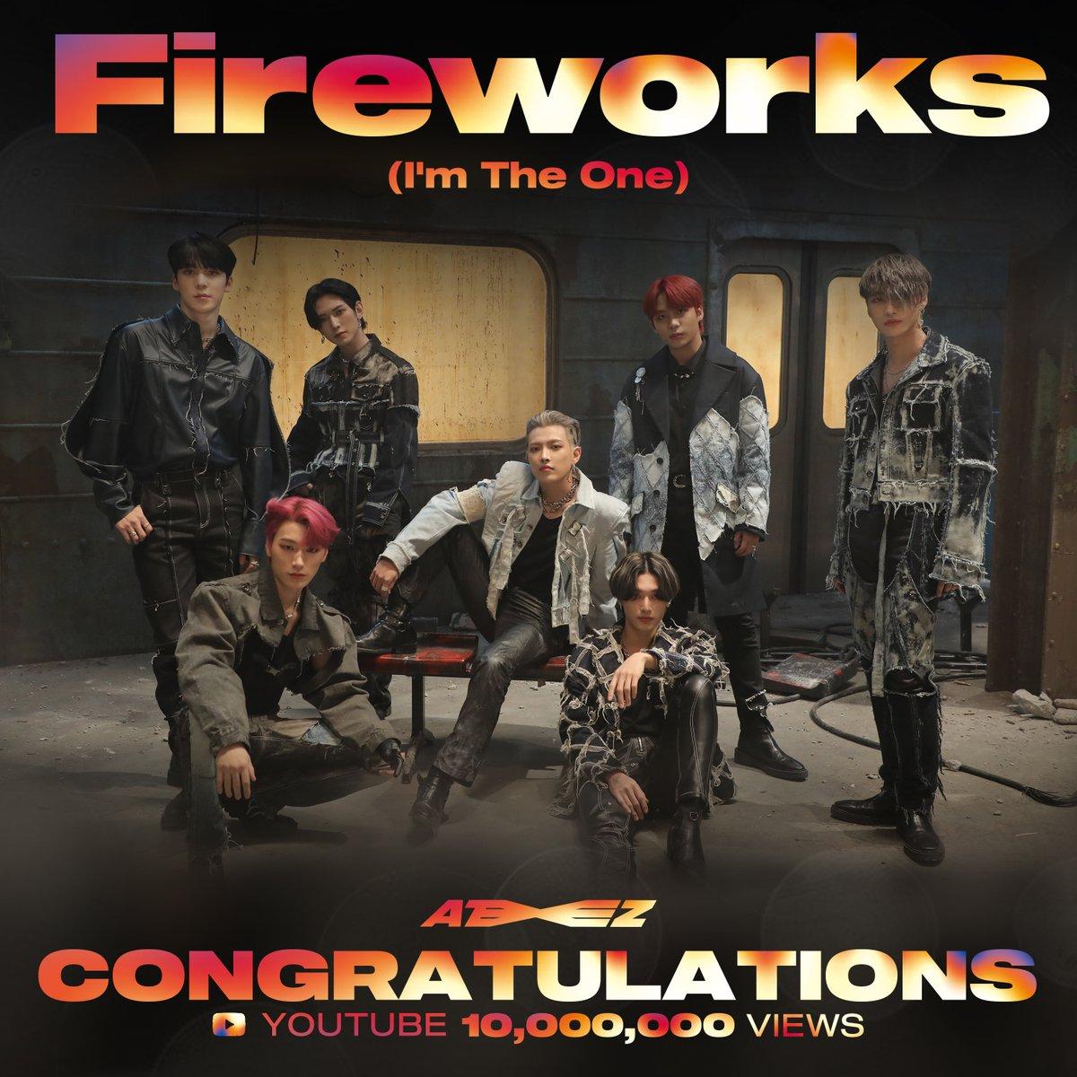 [📢] ATEEZ(에이티즈) - '불놀이야 (I'm The One)' Official MV 10,000,000 Views  ⠀ '불놀이야' 뮤직비디오의 유튜브 조회수 1000만회 달성!👏  에이티니 여러분의 꾸준한 사랑과 관심 감사합니다😍  ⠀ ▶  ⠀ #불놀이야 #Fireworks #ATEEZ #에이티즈