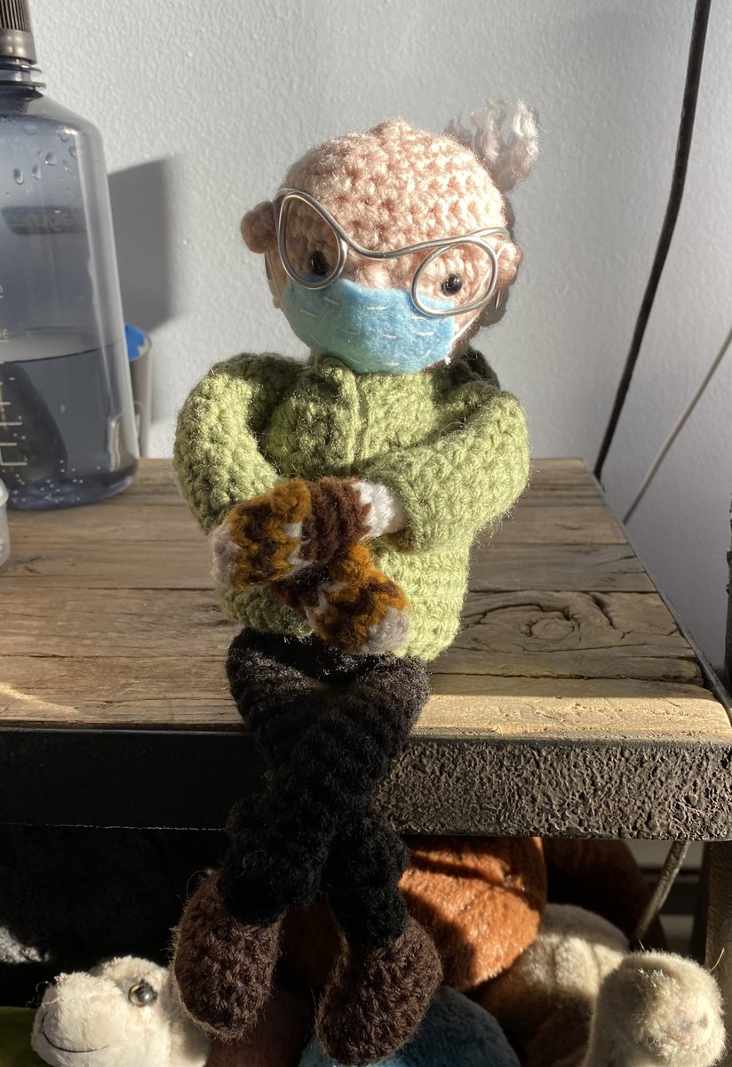 My new co-worker is the best. Made by: @theyoungestcrochets Found via: @CocoallyNOLA You will not regret having him around...waiting!   #Berniememes #berniesmittens #WFH #Inauguration2021