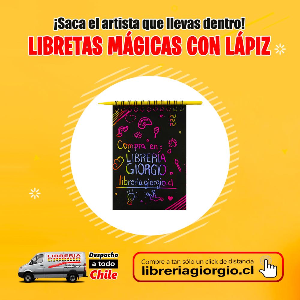 Visítenos en . COMPRE ONLINE seleccionando Librería Giorgio Camilo Henríquez, con despacho a domicilio a todo Chile 🚛🇨🇱 Compre en  #Libretas #mágicas #artista #love #instagood #beautiful #happy #cute #art #girl #fun #style #smile