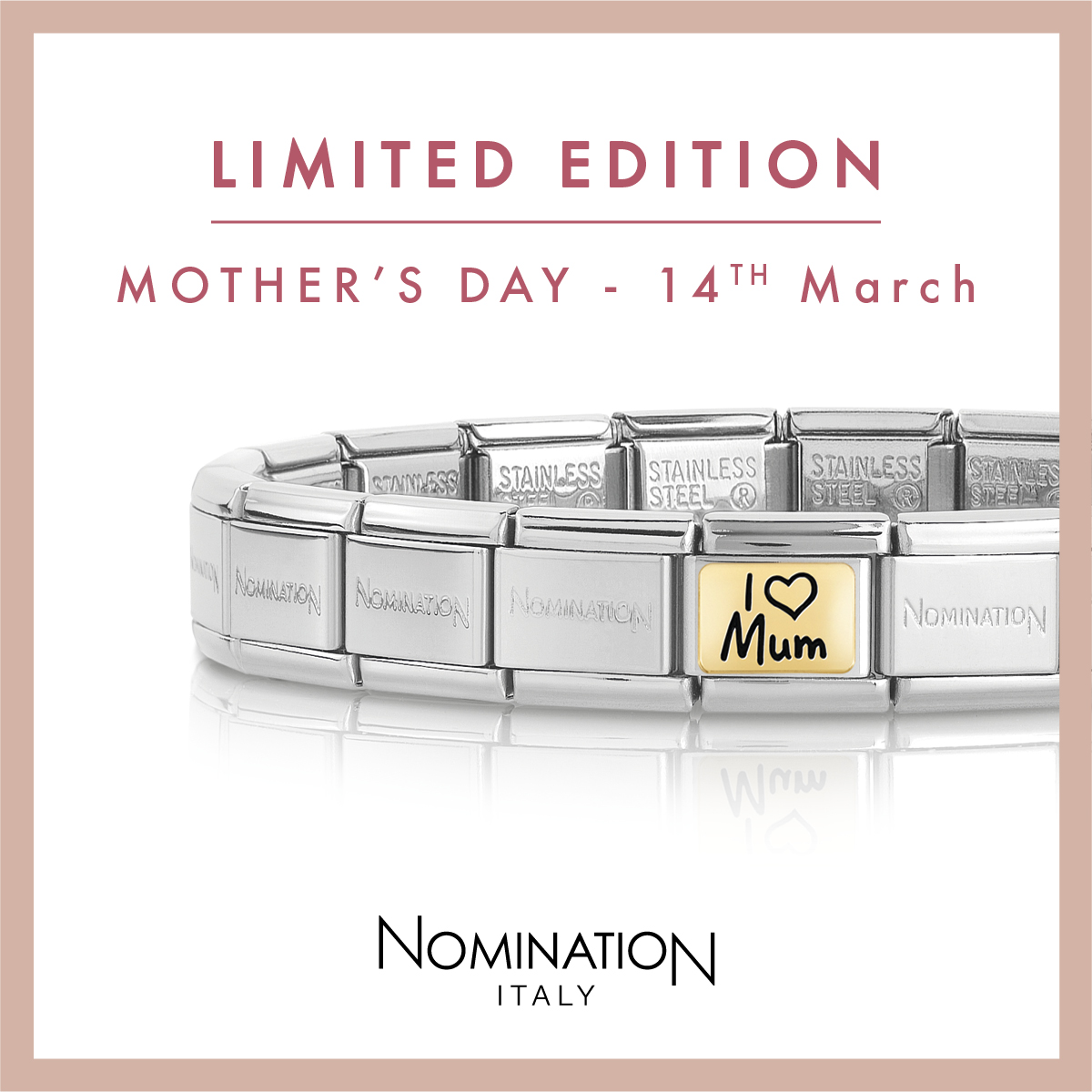 Limited Edition Nomination Charms for Mother's Day ❤  Treat your Mum this Mother's Day to a limited edition Nomination charm, perfect to start her Nomination journey ✨  Shop Nomination 👉  #Wednesdaywisdom #Wednesdaymotivation