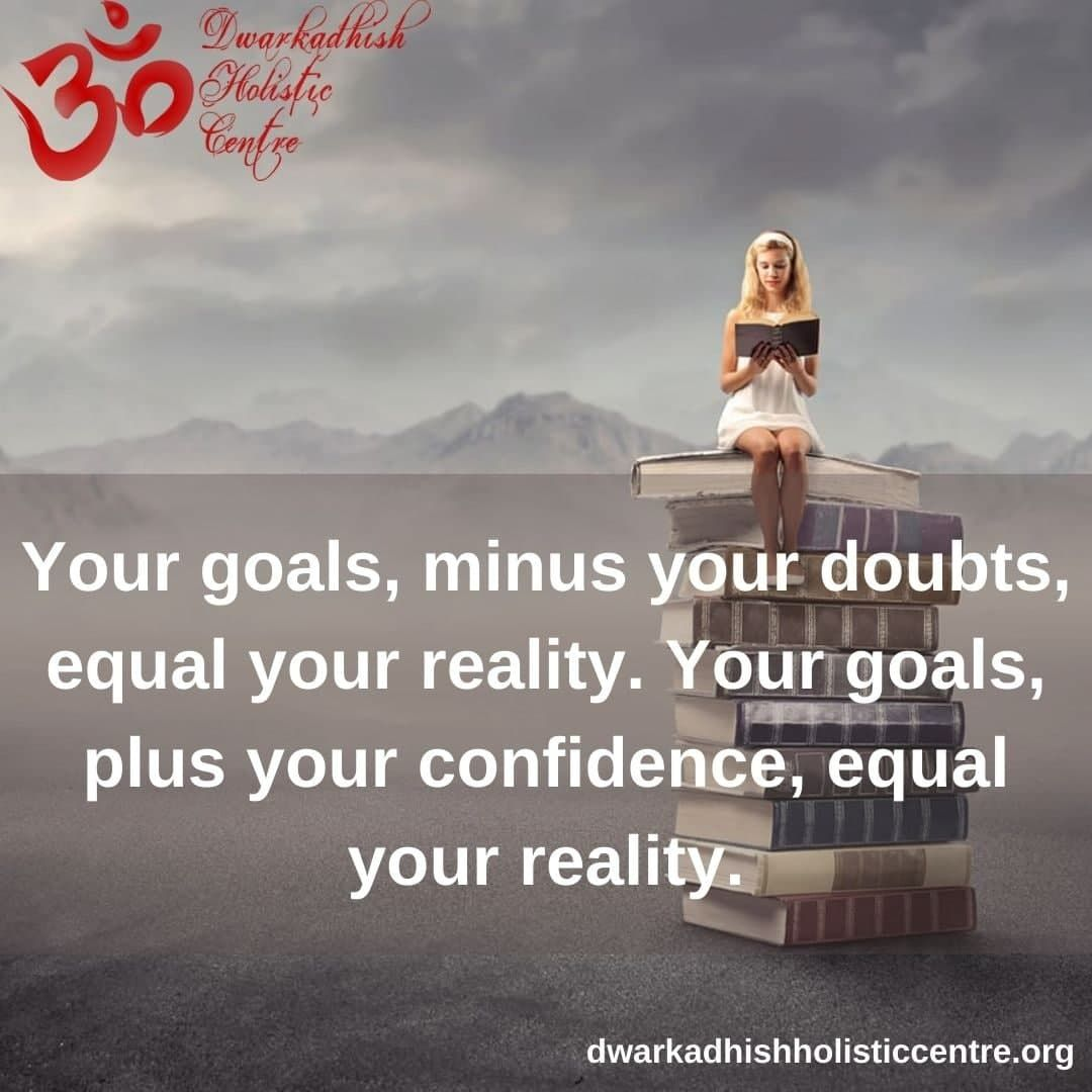 Your goals, minus your doubts, equal your reality. Your goals, plus your confidence, equal your reality.  #Quotes #QuotesOfTheDay #QuotesDaily #Gratitude #InspirationalQuotes #LifeQuotes #DailyInspiration #DailyWisdom #DailyDHC #MotivationalQuotes via @DWKHolistic