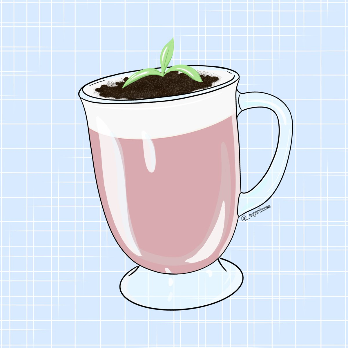 2nd  @princeteahouse-inspired post: potted plant rose milk tea 🌹❣️ . {Pls bear with me as I explore different art styles 🙇🏻♀️} . . . #foodart #dessert #cute #cuteart #art #artwork #digital #digitalart #digitalartwork #procreate