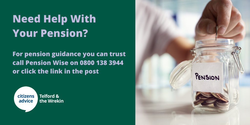 Do you need help with understanding your pension?          For pension guidance you can trust book a free appointment with Pension Wise.  Call: 0800 138 3944  Or go to:   #HereForYou #Pension #Pensions #PensionWise #NationalLockdown