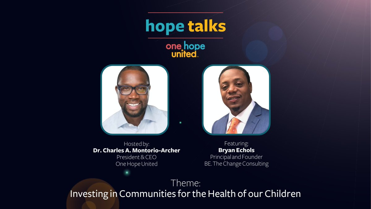 "test Twitter Media - Our February episode of Hope Talks, ""Investing in Communities for the Health of Our Children,"" explores how we can prioritize the mental, emotional, and spiritual well-being of our children.  View the episode: https://t.co/t5REzShppJ  #OneHopeUnited #BeTheChangeConsulting https://t.co/meCJmKoWiL"